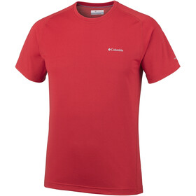 Columbia M's Mountain Tech III SS Crew Shirt red spark